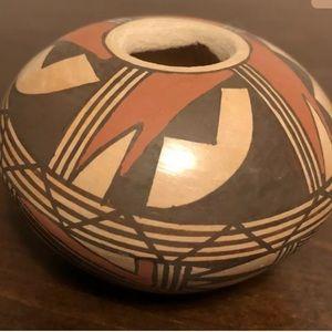 Hopi Artist A. Silas Miniature Pot Polychrome